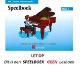 HAL LEONARD PIANOMETHODE SPEELBOEK 1
