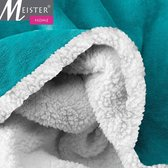 Meisterhome®  Fleece deken Plaid maat 150x200 cm Old Blue