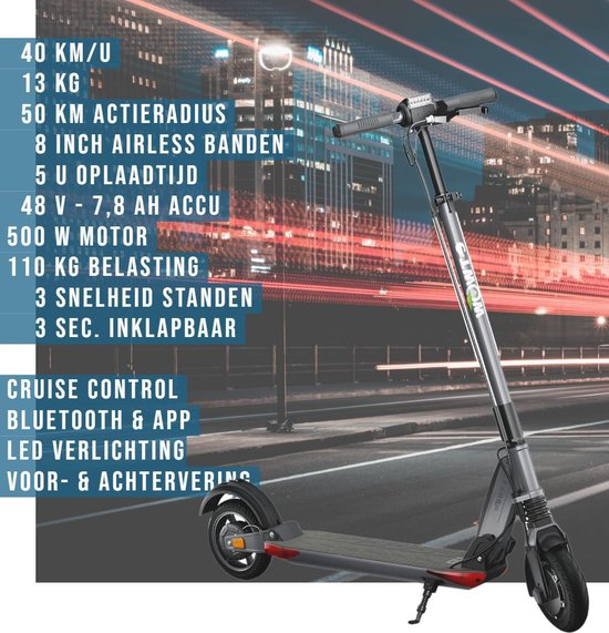 e-TWOW GT 2020 SL Elektrische Step - Zwart - 40 km/u - 13 kg - 40 km