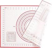 Siliconen Bakmat | Deegmat | MET EXTRA SPUITZAK | Anti-Slip | Met maatindicaties | 60 X 40 CM