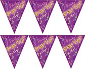 2x stuks party time verjaardag feest vlaggenlijn van 5 meter
