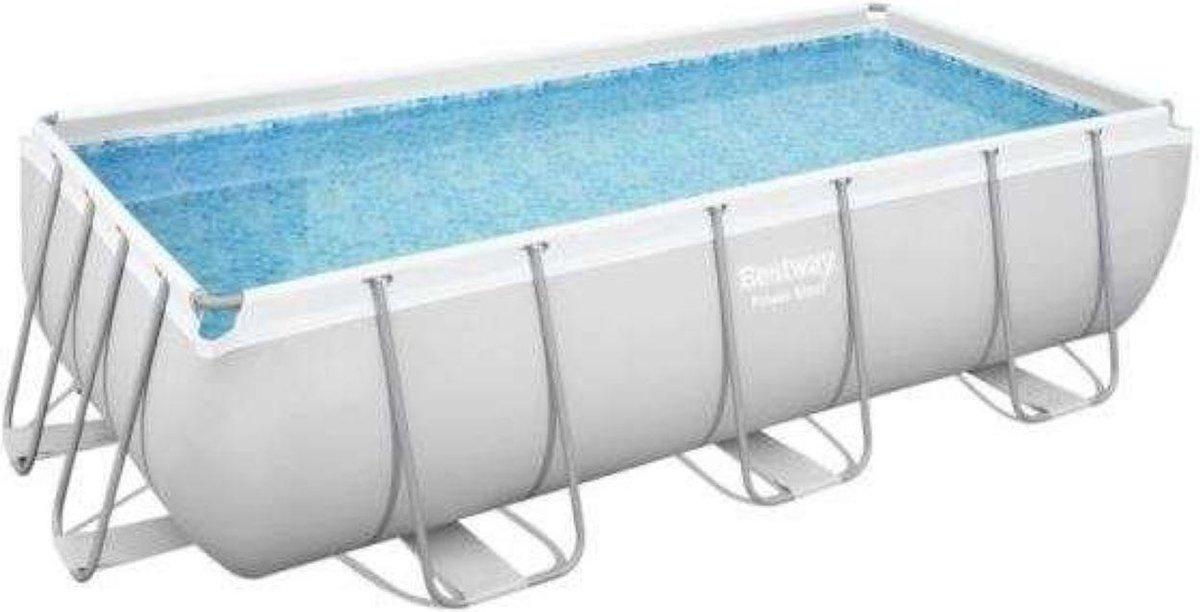 Bestway Powersteel Zwembad - 404x201x100cm - inclusief filterpomp en trap - extra stevig