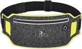 Hardloop Telefoonhouder Hardloopriem Running Belt Heuptas Heren Damen - Sportband - Heuptas - Hardlooptasje - Hardlopen - Geel - One Size