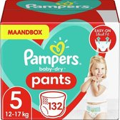 Pampers Baby-Dry Pants Luierbroekjes - Maat 5 (12-17 kg) - 132 stuks