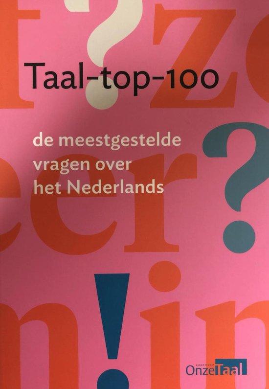 Boek cover Taal-top-100 van Genootschap Onze Taal (Paperback)