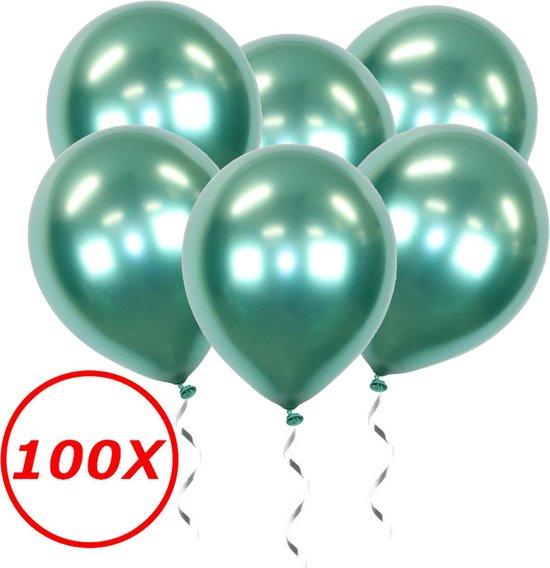 Groene Ballonnen Verjaardag Versiering Helium Ballonnen Feest Versiering Jungle Decoratie Chrome Versiering - 100 Stuks