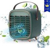 Mini Airco - Mobiele Airco - Luchtkoeler - Airconditioning - Ventilator - Aircooler - Tafelventilator - Groen