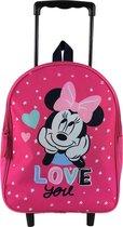 MINNIE MOUSE In Love Hartjes Rugzak Trolley School Tas 2-5 Jaar Vakantie Logeren