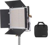 Andoer® Studiolamp - U beugel - Studio verlichting - 660 LED (330 wit en 330 geel) lampen - Dimbaar - 360 graden verstelbaar - Draagtas inbegrepen - 40 W
