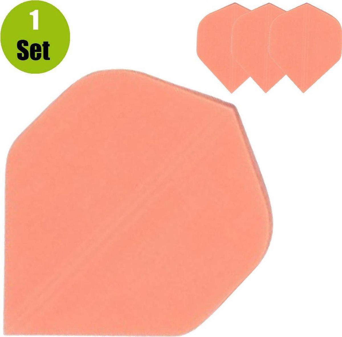 Poly Plain Dartflights - Fluor Oranje- (1 Set)