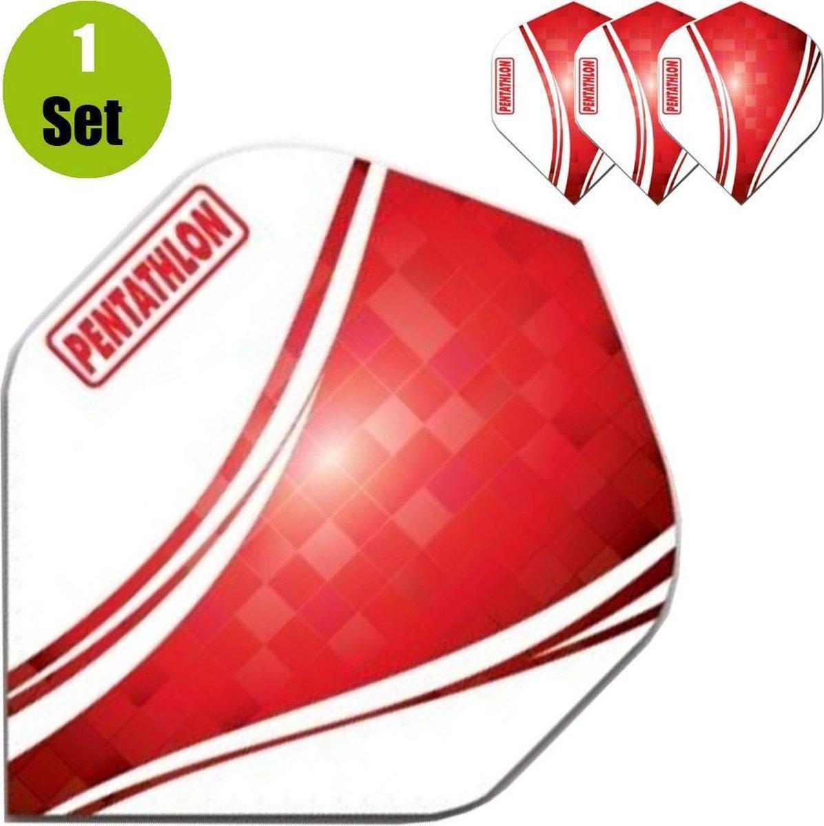 Pentathlon Vizion Swirl Dartflights - Rood- ()