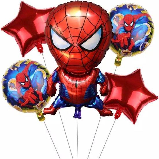 Spiderman folieballonset 5  stuks Verjaardag - Kinderfeestje - Versiering - Decoratie