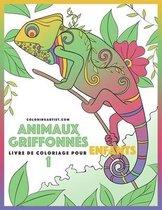 Livre de coloriage pour enfants Animaux griffonnes 1