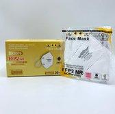 Medische Mondmasker -5 Stuks  - Mondkapje - Gezichtsmasker- FFP2 -N95 - Comfortabel Materiaal