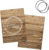 Bewaarbundel kaarten | A5 | houtlook