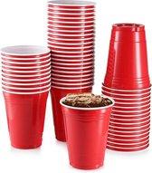 Red cups - 50stuk(s) - 475ml - Party Cups - Beerpong  - Drankspel - Beerpong Bekers