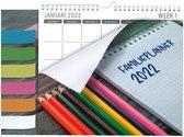 MGPcards - Family planner XL 2022 - Familie planner- 6 namen - Week begint op Maandag