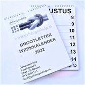 GROOT LETTER weekkalender 2022  A4 formaat.
