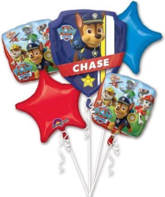 Paw Patrol Ballonnen Set - 5 Delig - Decoratie - Folie Ballonnen
