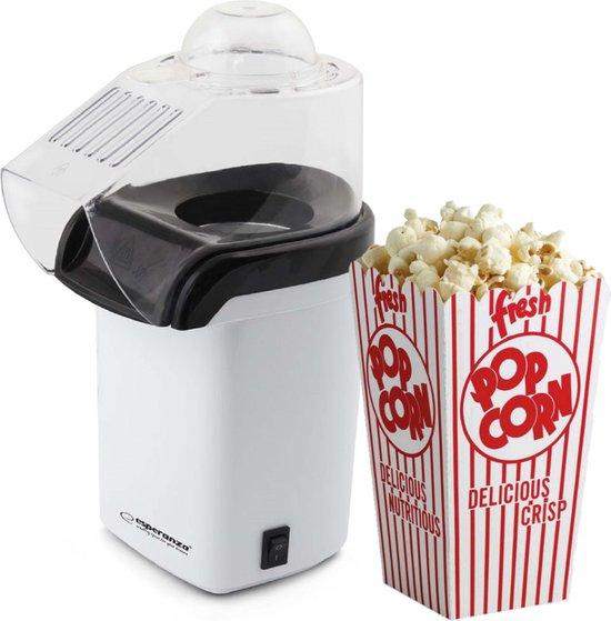 Esperanza EKP005W Popcornmaker - Hetelucht popcorn machine zonder olie - 1200 Watt - 27 cm