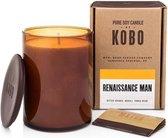 KOBO Geurkaars Woodblock Renaissance Man 425 g