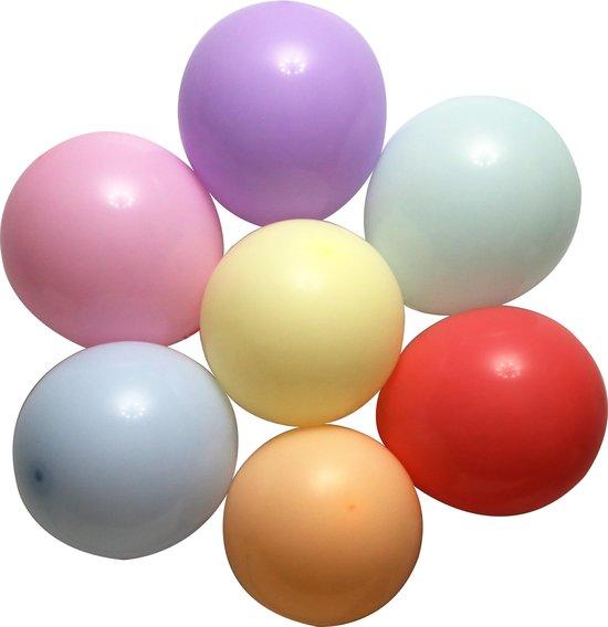 100 stuks Premium Pastel Gekleurde Feest Confetti Helium Ballonnen - MagieQ Verjaardag Versiering - Regenboog Unicorn Ballonnenboog - Latex