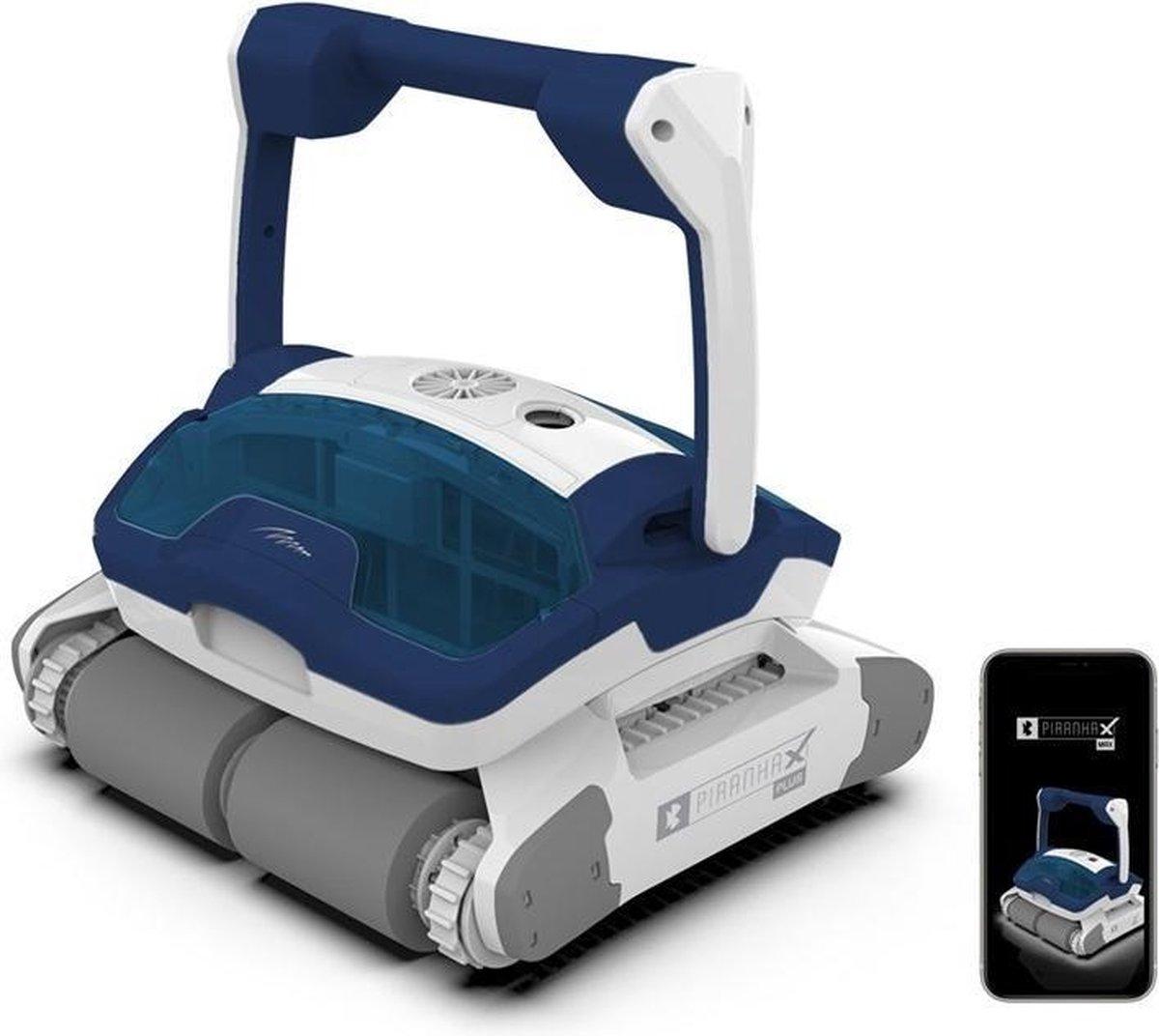 Piranha X MAX zwembadreiniger, PREMIUM zwembadrobot -3 jaar garantie - Smartphone ready