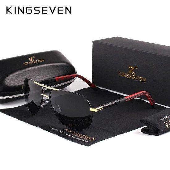 Kingseven Vintage Heren Zonnebril - Zwart