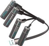 AA USB oplaadbare batterijen - Lithium -  lichter, sneller opladen, hoger vermogen