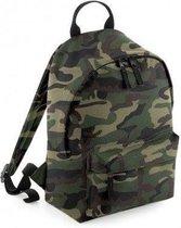 BagBase Mini Essential rugtas 9 liter Camouflage, peuter rugtas