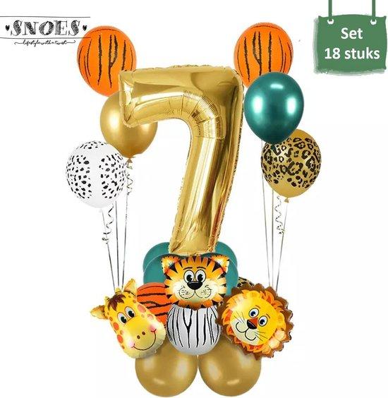 Dieren Ballon Pakket * 7 Jaar * Jungle Ballon * Dieren Feest * Jungle Feest * Verjaardag Feest * Hoera 7 Jaar * Gefeliciteerd * Kinderfeestje * Jungle Party * Snoes