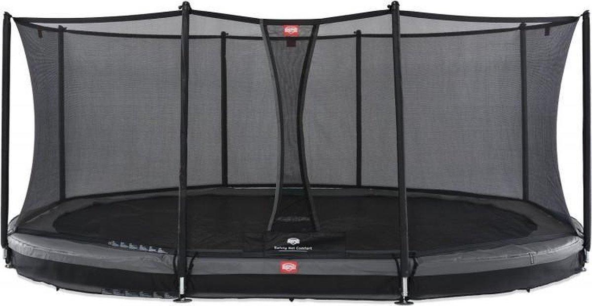 BERG Grand Favorit InGround Trampoline 520 met Safety Net Comfort - Grijs