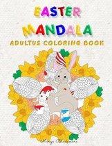 Easter Mandala Adults Coloring Book