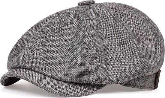 Peaky Blinders Cap - Flat Caps Heren - Heren Pet - Baret Heren - Heren Kleding - Tommy Shelby - Cadeau Man - Grijs - One Size