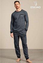 Eskimo pyjama heren - blauw - Toon - maat XL