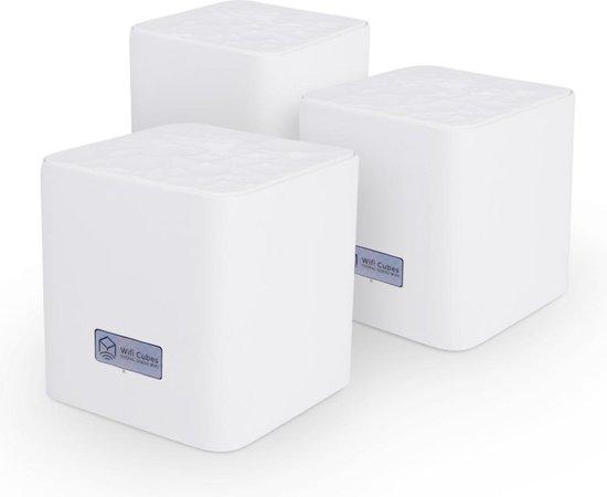 Wifi Cubes - 3 pack - Mesh wifi systeem - 300m2 wifi bereik - Wifi Booster - Eenvoudig te installeren - Wifi versterker - Werkt met app - Ouderlijk toezicht - Dual band 2.4g & 5G - uitbreidbaar - Wifi router