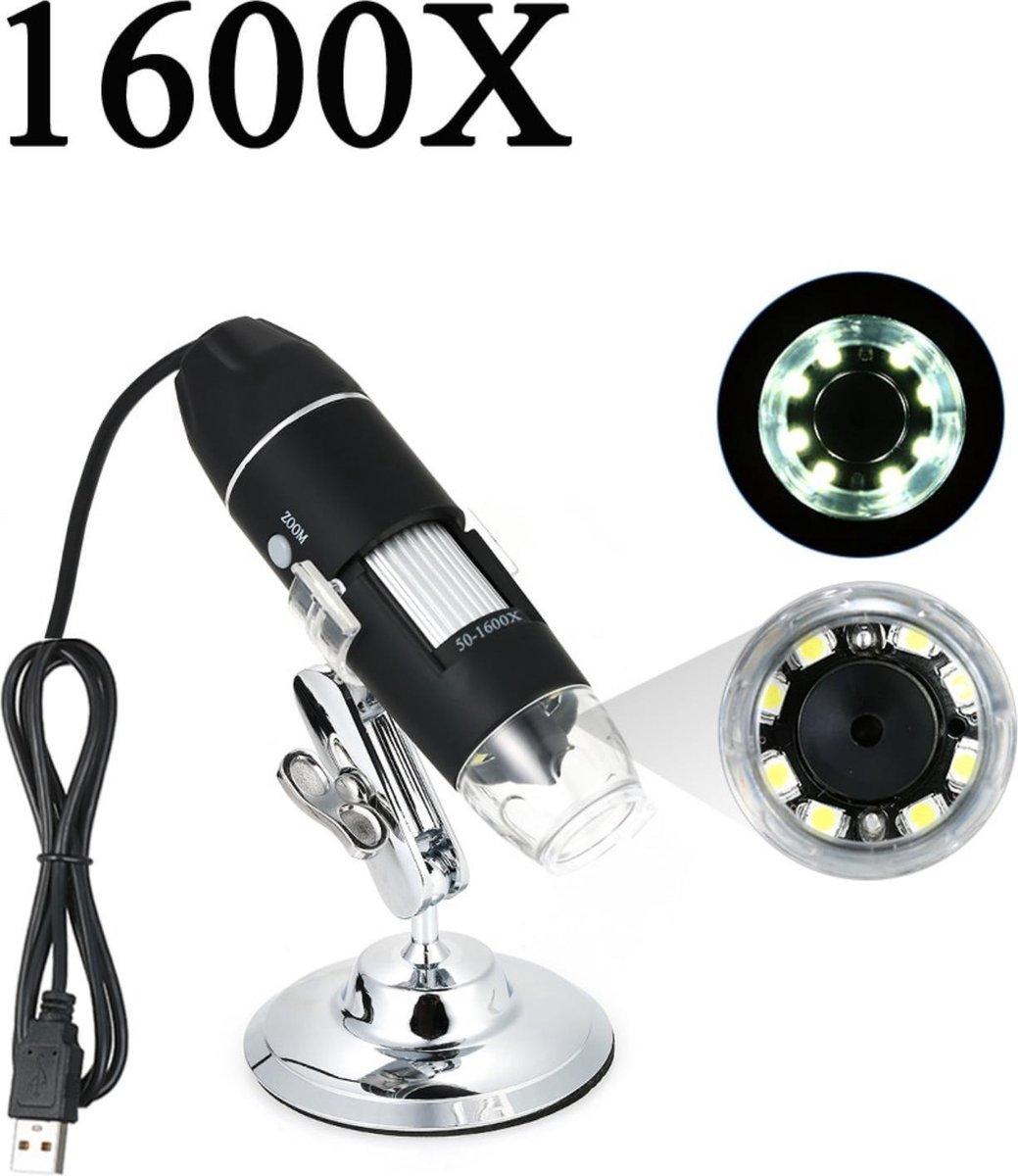 Visualux® Digitale microscoop - Vergroot 1600X - Vergrootglas - 0.3MP camera - USB verbinding - 30000LUX