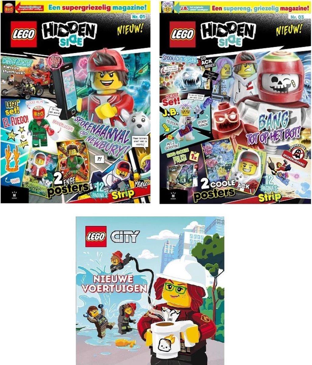 Lego - City - Boekje - Nieuwe voertuigen - 3 Pack - Strip - Hidden Site - Met Lego poppetjes - Lego