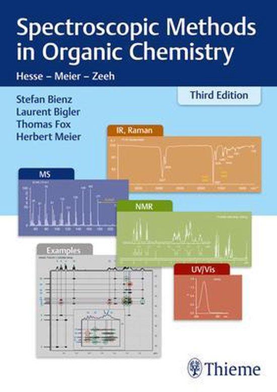 Boek cover Spectroscopic Methods in Organic Chemistry van Stefan Bienz (Paperback)