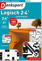 Denksport Puzzelboek Logisch 2-4* vakantieboek, editie 81