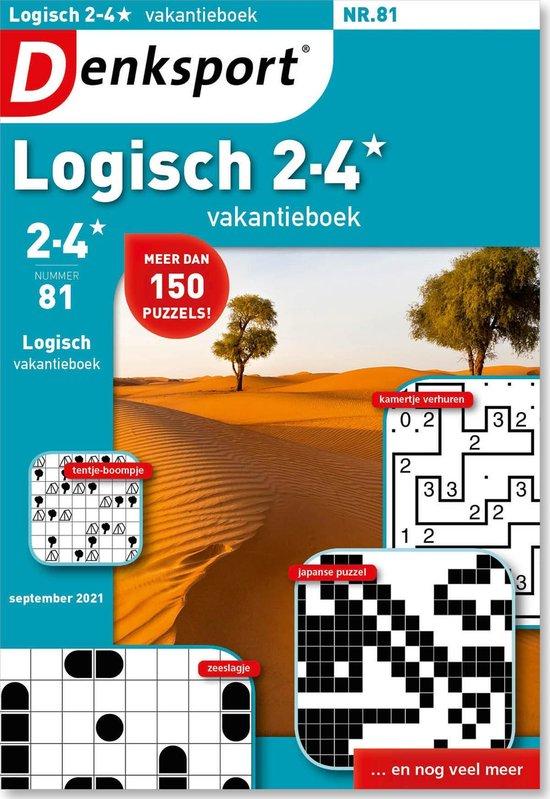 Afbeelding van Denksport Puzzelboek Logisch 2-4* vakantieboek, editie 81