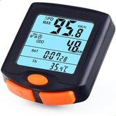 BikePro 500 - Fietscomputer - Draadloos - Met snelheidsmeter - Overdag & Nacht display modus - Zwart