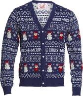 """Foute Kersttrui Dames & Heren - Christmas Sweater """"Merry Christmas Vest"""" - Kerst trui Mannen & Vrouwen Maat L"""