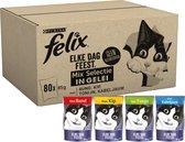 Felix Elke Dag Feest Mix Selectie in Gelei - Kattenvoer - 80 x 85g