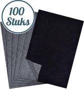 Trizzle Carbonpapier Zwart - 100 Vellen Overtrekpapier voor Hobby en Tekenen - A4 Formaat