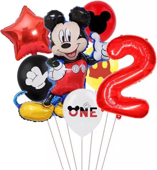 Disney Mikey  Folie Ballonnen Set Mickey Mouse Ballon 7 stuks Verjaardagsfeestje Decoratie -2 jaar