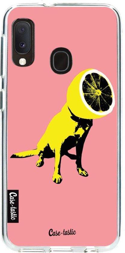 Samsung Galaxy A20e hoesje Lemon Dog Casetastic Smartphone Hoesje softcover case