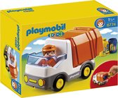 PLAYMOBIL 1.2.3 Vuilniswagen - 6774