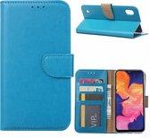 Samsung Galaxy A10 Hoesje Turquoise met Pasjeshouder