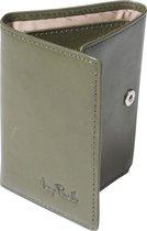 Tony Perotti Furbo Pure Mini RFID portemonnee met papier- en kleingeldvak - Groen